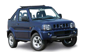 Rent a Car in Karpathos SUZUKI JIMNY OPEN (old car)