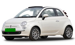 Rent a Car in Karpathos Fiat 500 (ETMR) Cabrio